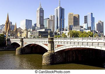 декорации, мост, принц, мельбурн, город