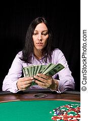 денежные средства, в, , казино