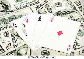 деньги, как, шанс, много, games, playing