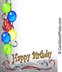день рождения, приглашение