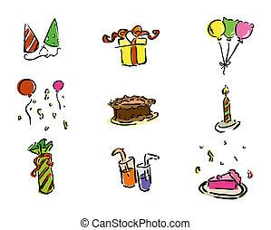 день рождения, icons