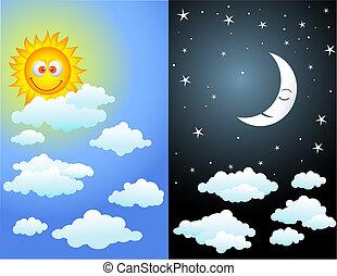 день, and, ночь