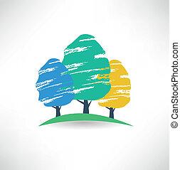 дерево, значок