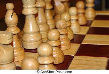 дерево, шахматы, задавать, 2