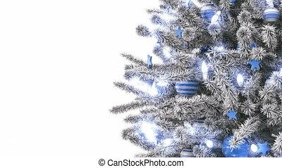 дерево, isolated, задний план, год, новый, белый