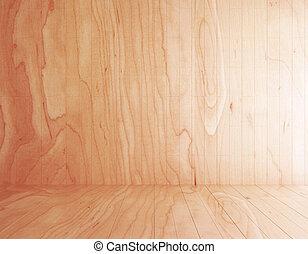 деревянный, абстрактные, комната, пустой