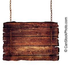 деревянный, знак
