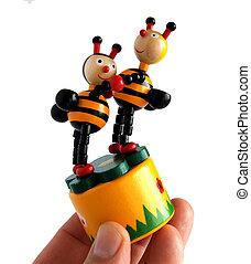 деревянный, игрушка, , танцы, bees