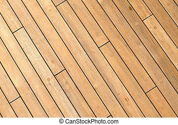 деревянный, корабль, диагональ, задний план, палуба