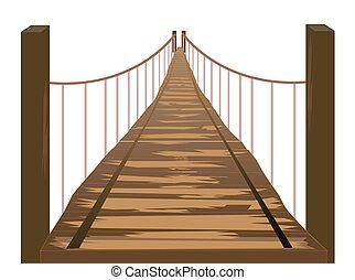 деревянный, мост