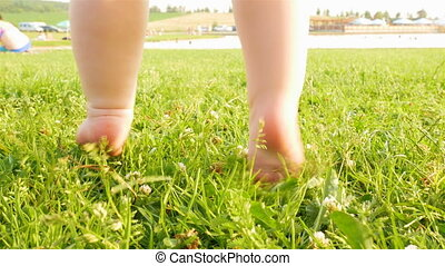 детка, немного, learns, walk.