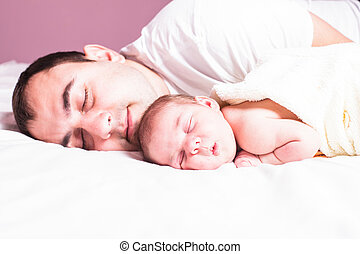 детка, папа, sleeps