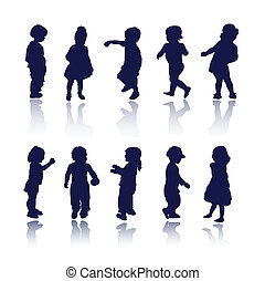 детка, children, kids, silhouettes