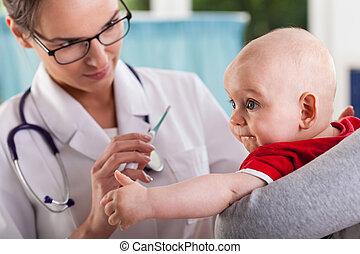 детка, examining, врач