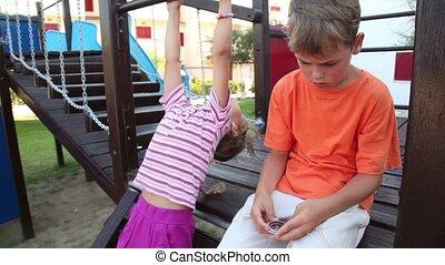 детская площадка, два, children