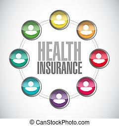 диаграмма, люди, здоровье, страхование, знак