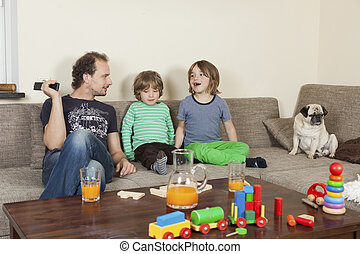 диван, sons, отец, собака