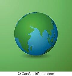 дизайн, материал, зеленый, чистый, земля