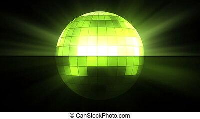 дискотека, зеленый, мяч