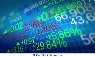 дисплей, of, акции, рынок, quotes., мелкий, глубина, of,...