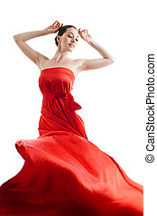 длинный, платье