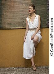 длинный, платье, серии