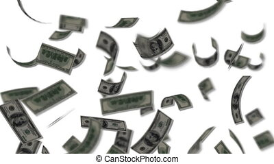 доллар, bills, falling, как, дождь