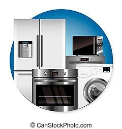 домашнее хозяйство, вектор, appliances