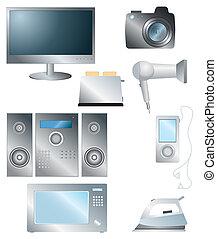 домашнее хозяйство, задавать, электронный, elements