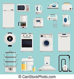 домашнее хозяйство, задавать, appliances, icons
