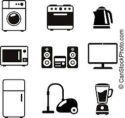 домашнее хозяйство, appliances, icons