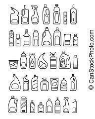 домашнее хозяйство, chemicals, icons