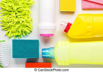 дом, белый, продукты, уборка, таблица