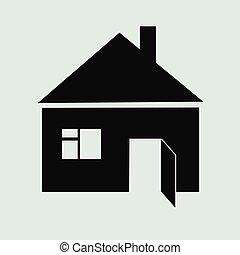 дом, значок