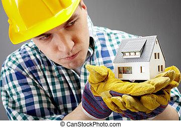 дом, модель, конструктор
