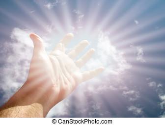 достичь, для, , небо