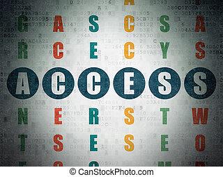 доступ, кроссворд, головоломка, concept:, конфиденциальность