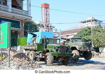 дрель, machines, два, камбоджа, 1, углубления, воды