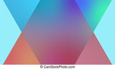 другие, анимация, задний план, triangles, каждый, синий, два...