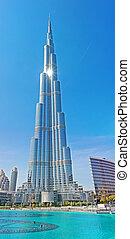 дубай, башня, khalifa, 14:, -, world's, uae-november, burj, в центре города, tallest, 14, дубай, uae, ноябрь, 2012