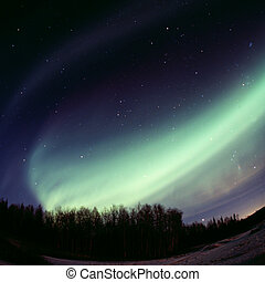 дуга, -, дисплей, сильный, auroral