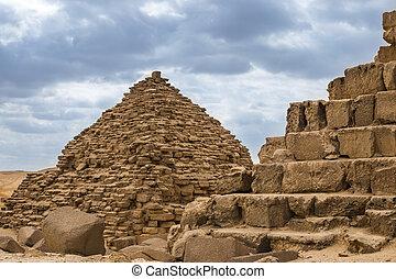 египтянин, pyramids, в, of, гиза, египет