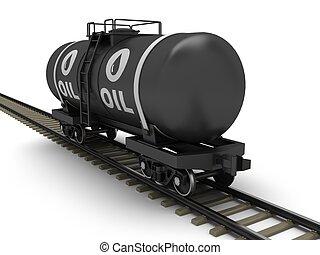 железная дорога, бак, вагон