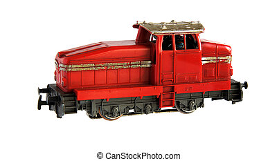 железная дорога, локомотив, модель