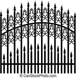 железо, забор