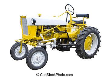 желтый, трактор