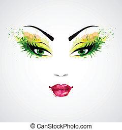 женский пол, лицо