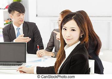 женский пол, менеджер, бизнес, офис, teams