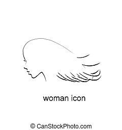 женщина, значок