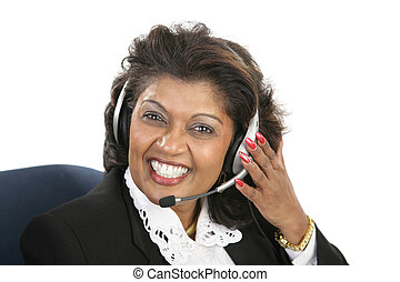 женщина, -, индийский, оказание услуг, дружелюбный